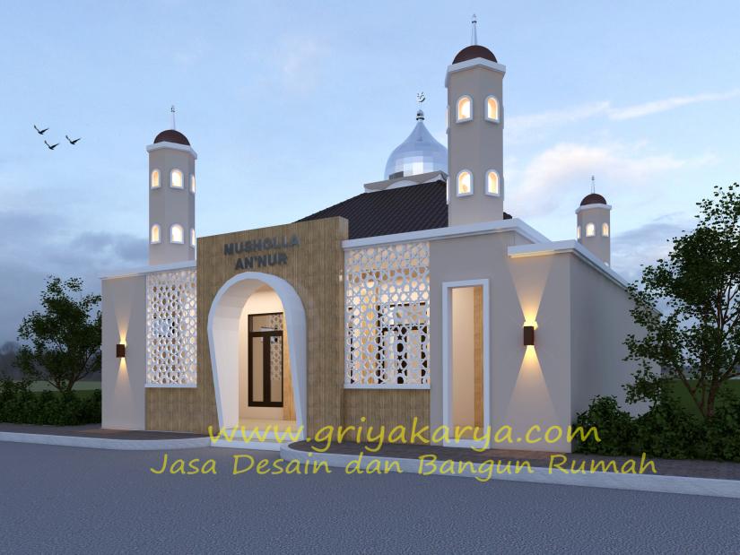 Tampak Depan Masjid Annur Griya Karya Jasa Desain Dan Bangun Rumah