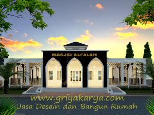 Tampak Depan Masjid Al Falah Griya Karya Jasa Desain Dan