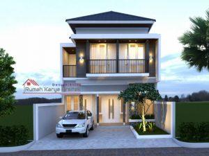 desain rumah minimalis 2 lantai - bapak heri (pasar rebo