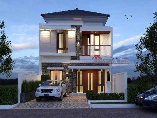 Desain Rumah Tropis Minimalis 2 Lantai Bapak Suparno Jakarta Griya Karya Jasa Desain Dan Bangun Rumah