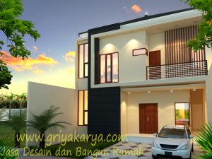 Desain Rumah Minimalis 2 Lantai Bapak Victor Jambi