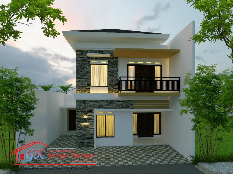 Desain Rumah 2 Lantai Minimalis Natural Pak Sandy